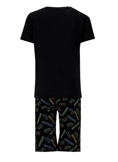 DeFacto Erkek Çocuk Batman Lisanslı Kısa Kol Pijama Takımı Siyah